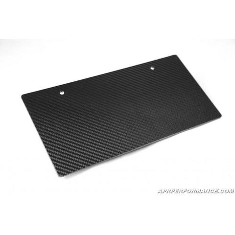 APR Carbon Fiber License Plate