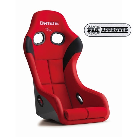 Bride Zeta IV Seat - Red / Silver FRP Shell