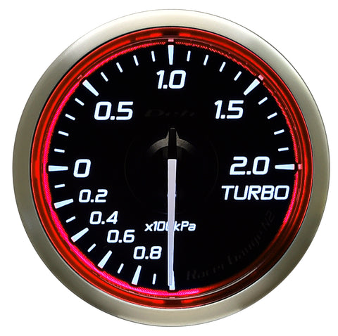 Defi Racer Gauge N2 Red (52mm) - Turbo 2.0