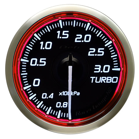 Defi Racer Gauge N2 Red (52mm) - Turbo 3.0