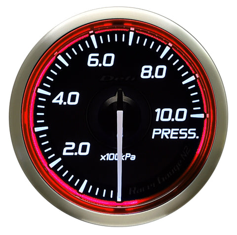 Defi Racer Gauge N2 Red (52mm) - Pressure