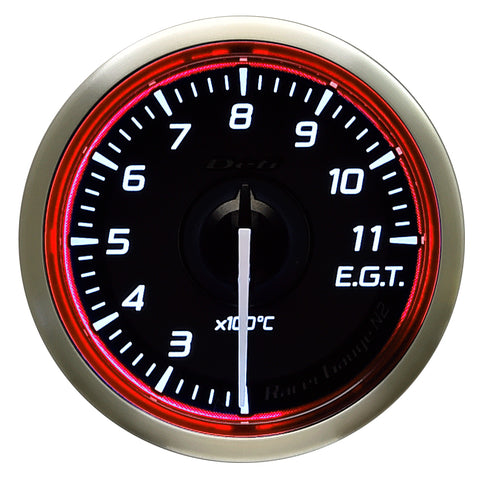 Defi Racer Gauge N2 Red (52mm) - Exhaust Temperature