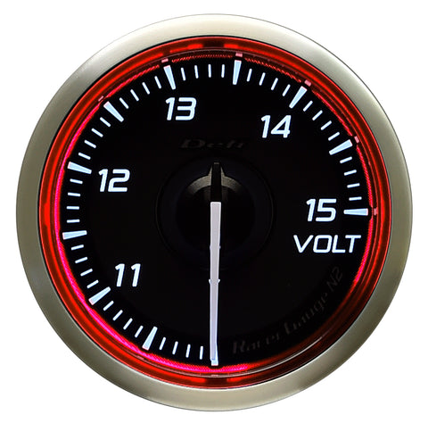 Defi Racer Gauge N2 Red (52mm) - Volt