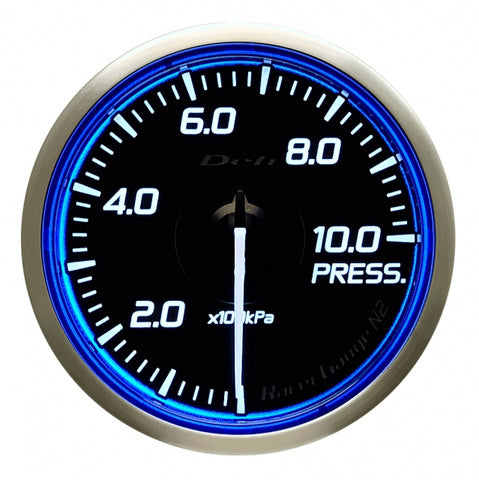 Defi Racer Gauge N2 Blue (60mm) - Pressure