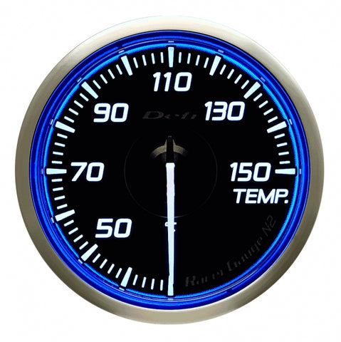 Defi Racer Gauge N2 Blue (60mm) - Temperature