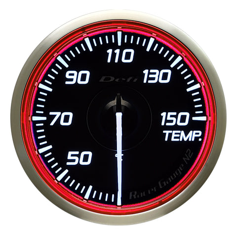 Defi Racer Gauge N2 Red (60mm) - Temperature