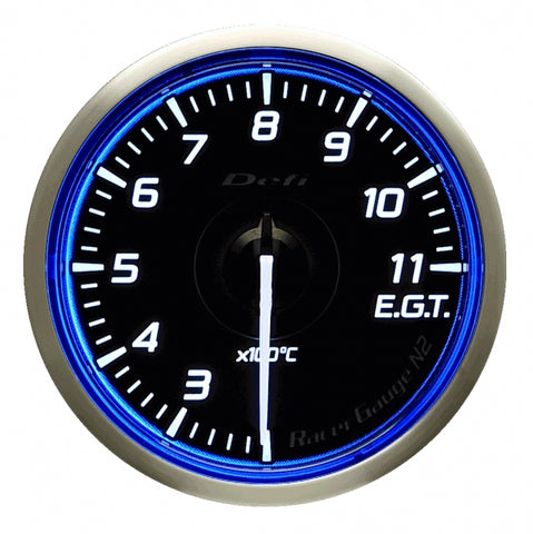 Defi Racer Gauge N2 Blue (60mm) - Exhaust Temperature