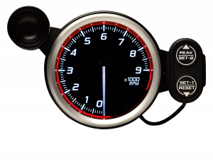 Defi Racer Gauge N2 Red (80mm) - Tachometer (MAX 9000rpm)