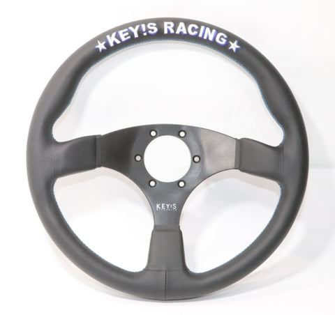 Key's Racing FLAT Type Black Steering Wheel 350mm