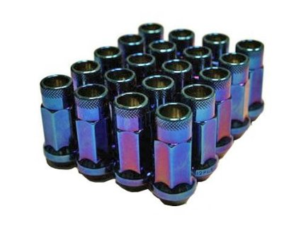 Muteki SR48 Lug Nuts - Burning Blue Neon