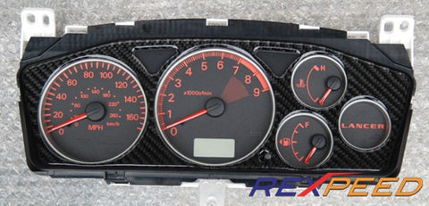 Rexpeed Carbon Gauge Cluster High Gloss EVO 7/8/9