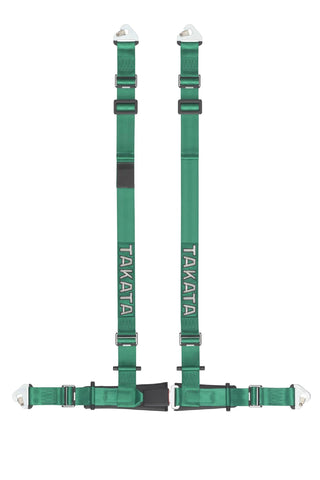 Takata Drift II 4-point snap-on Harness - Green