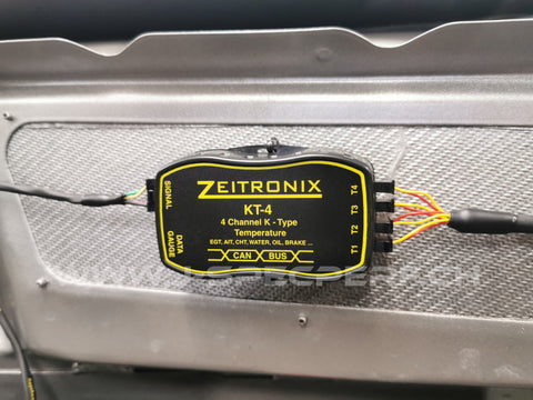 Zeitronix KT-4 CAN Bus 4 Channel K-Type Thermocouple Module