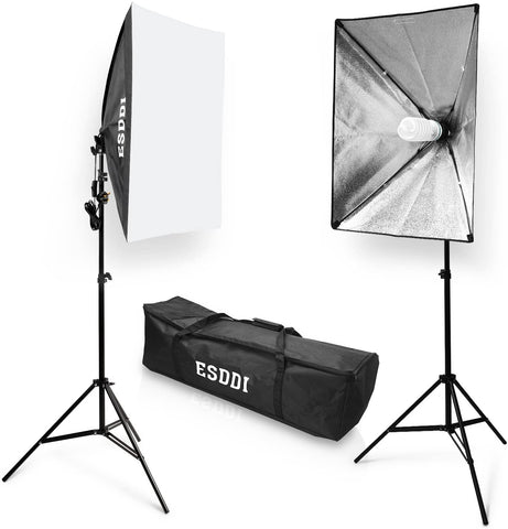 Softbox Studio Lights 800W with 5500K Soft Lighting kit, Continuous Lighting for Studio, Photograph, Video