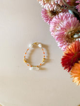 Load image into Gallery viewer, Clear Quartz/ Yellow Jasper / orange beads