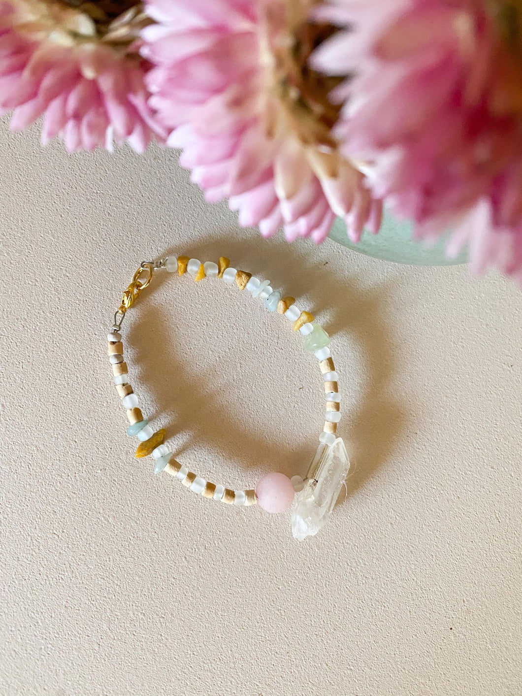 Clear Quartz/ Yellow Jasper Bracelet