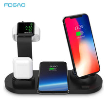 Load image into Gallery viewer, 3 in 1 QI Wireless Charging Dock Charger for iphone