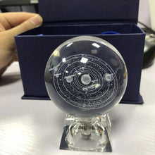 Load image into Gallery viewer, Galaxy Solar System Crystal Lamp - 3D Engraved