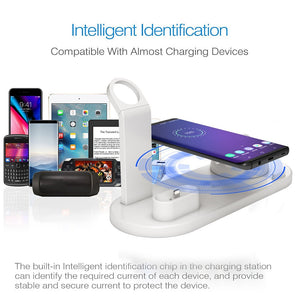 3 in 1 QI Wireless Charging Dock Charger for iphone