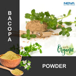 Nova Nutritions Certified Organic Bacopa Powder 16 OZ (454 gm) - Also Called Bacopa Monnieri (Leaf)