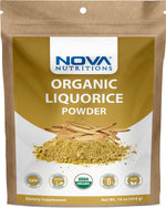 Nova Nutritions Certified Organic Licorice / Liquorice Root Powder 16 OZ (454 gm) - Also Called Glycyrrhiza glabra