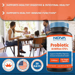 Nova Nutritions Probiotic 30 Billion SHELF STABLE 120 Veggie Capsules