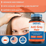 Nova Nutritions Anti-Gray Hair Formula 120 Capsules