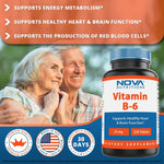 Nova Nutritions Vitamin B6 25 mg 250 Tablets