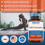 Nova Nutritions DIM Complex 100 mg Capsule made with Diindolyl Methane, Phosphatdyl Choline, & Black Pepper Extract 120 Count