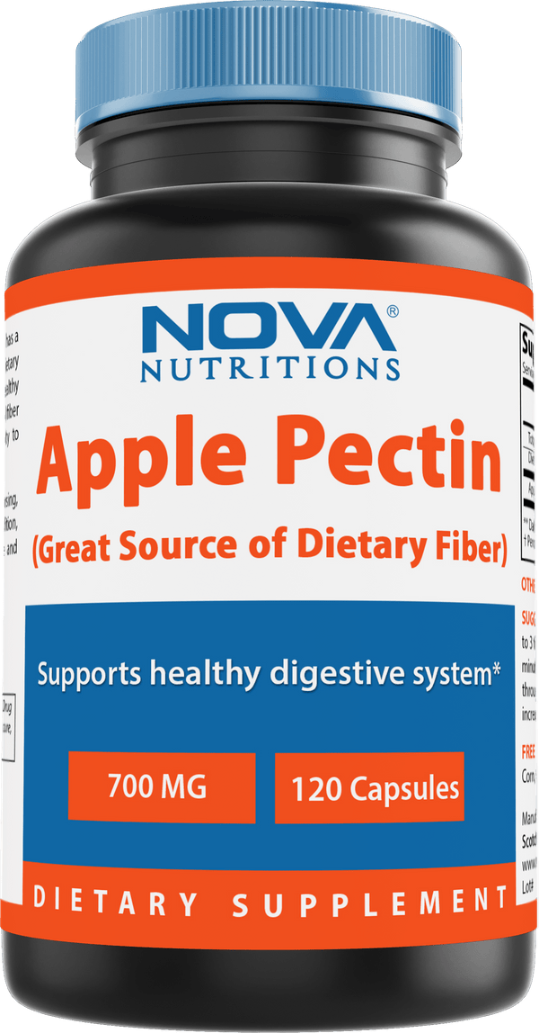Nova Nutritions Apple Pectin 700 mg 120 Capsules