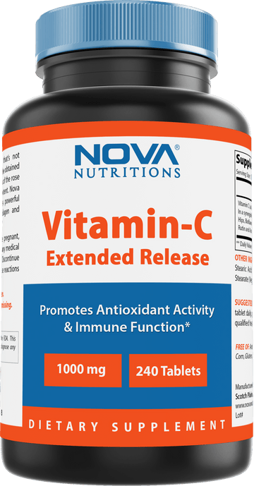 Nova Nutritions Vitamin C-1000 mg 240 Tablets