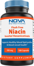 Nova Nutritions Flush Free Niacin Inositol Hexanicotinate 500 mg 180 Capsules