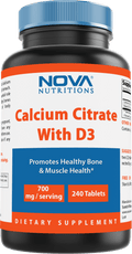 Nova Nutritions Calcium Citrate with D3 240 Tablets
