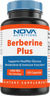 Nova Nutritions Berberine Plus 1000 mg per Serving (Non-GMO) 120 Capsules - Promotes Healthy Blood Sugar Level