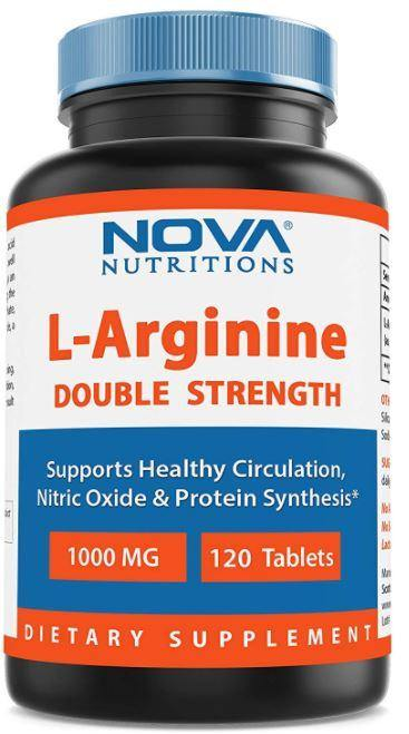 Nova Nutritions L-Arginine 1000 mg 120 Tablets