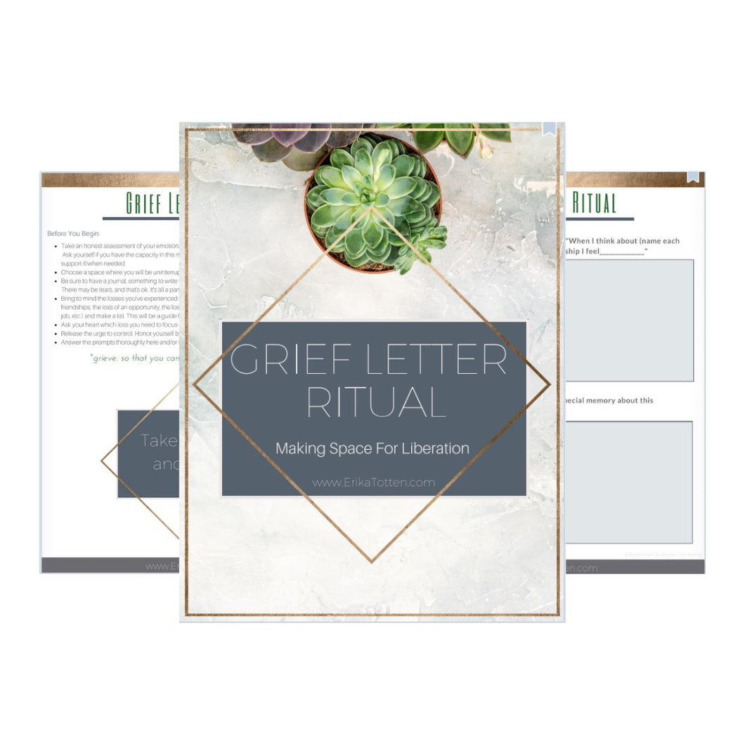 Grief Letter Ritual Guide