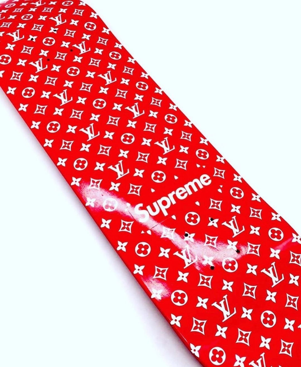 Louis Vuitton Supreme Monogram Skateboard Deck Red - archives