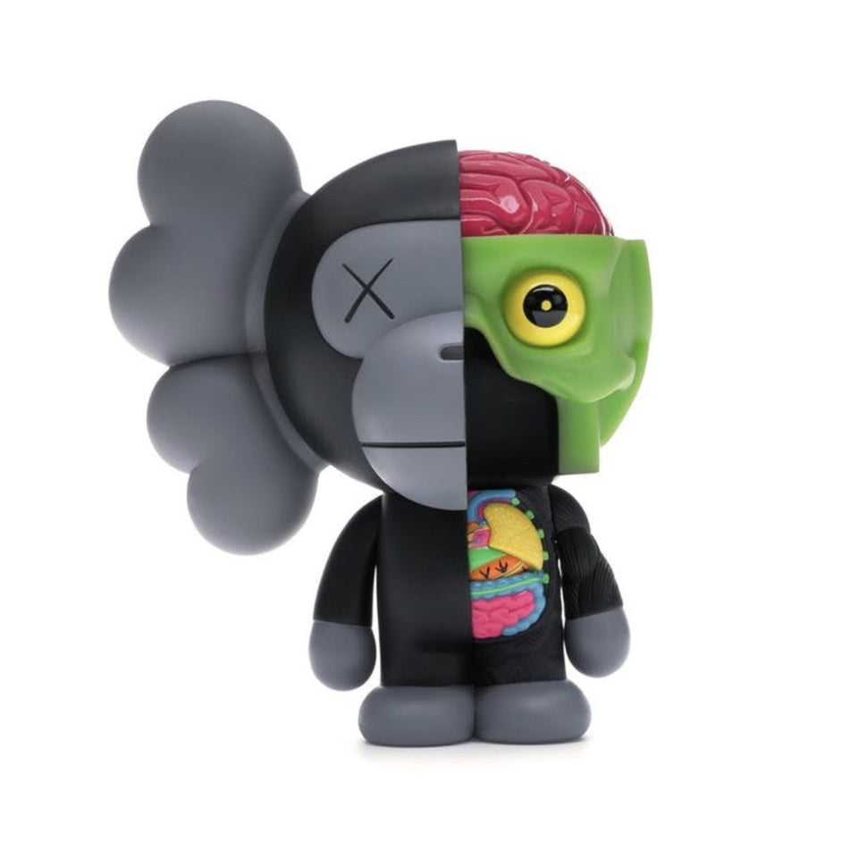 KAWS Bape Dissected Milo Vinyl Figure Black - archives