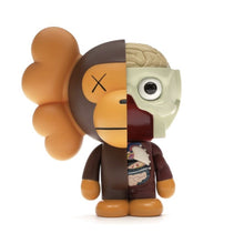 Load image into Gallery viewer, KAWS Bape Dissected Milo Vinyl Figure Brown - archives