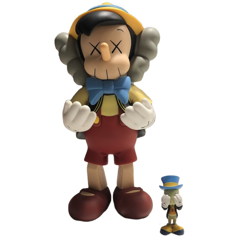 KAWS Disney Pinocchio & Jiminy Cricket Vinyl Figure - archives
