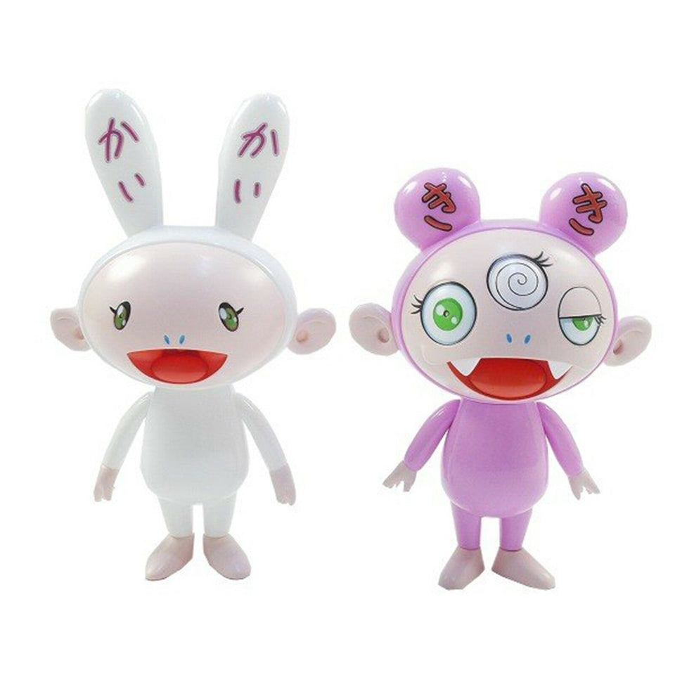 Takashi Murakami Kaikai & Kiki Figures Green Eyes (Set of 2) Multi - archives