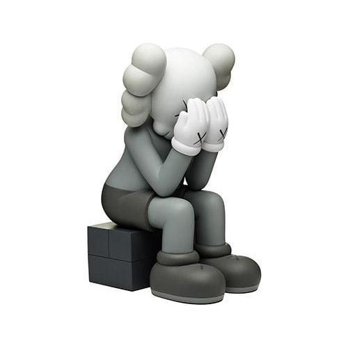 KAWS Passing Through Vinyl Figure Grey - archives