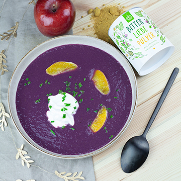 Apfel-Rotkohl Suppe