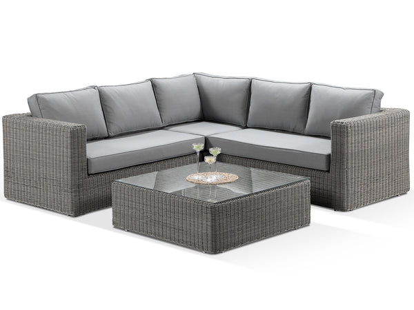 Tosca Grey Modular Corner Sofa Set with Grey Cushions - Alexander Francis