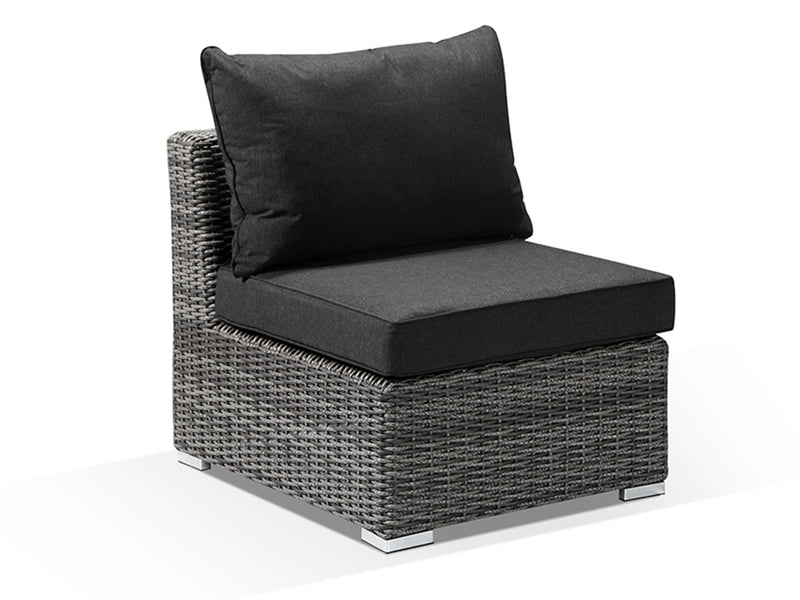 Verona Grey Rattan Outdoor Single Armless Chair - Alexander Francis