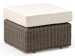 Tosca Natural Rattan Footstool with Cushion - Alexander Francis