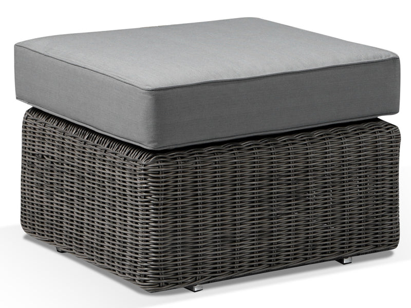 Tosca Grey Rattan Footstool with Cushion - Alexander Francis
