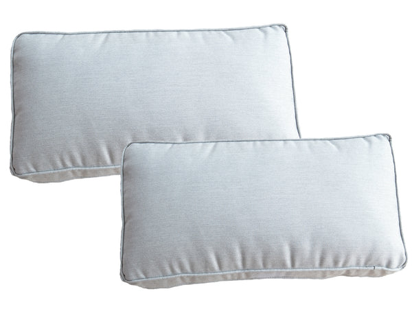 Set of 2 Sunbrella French Grey Scatter Cushions - Alexander Francis