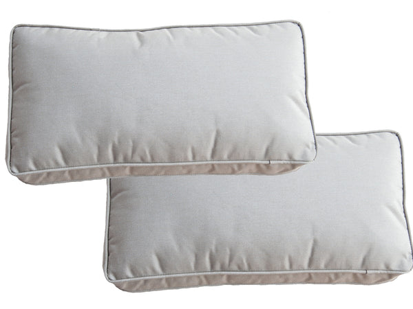 Set of 2 Sunbrella Taupe Scatter Cushions - Alexander Francis