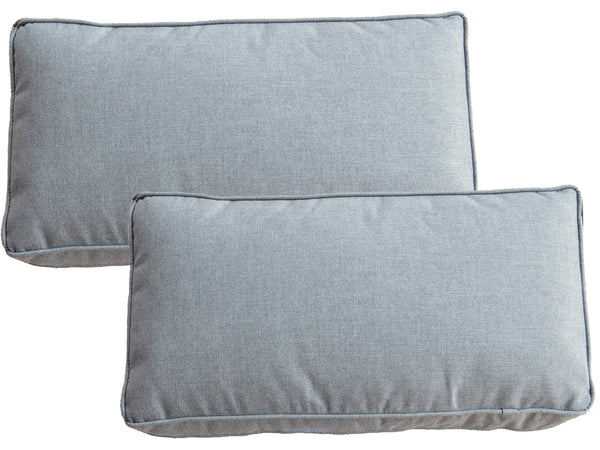 Set of 2 Sunbrella Slate Grey Scatter Cushions - Alexander Francis